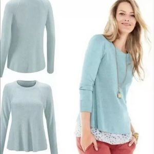 NWOT Cabi 5133 Blue Sky Ribbed Swing Sweater